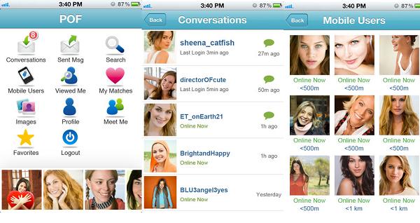 pof app screen