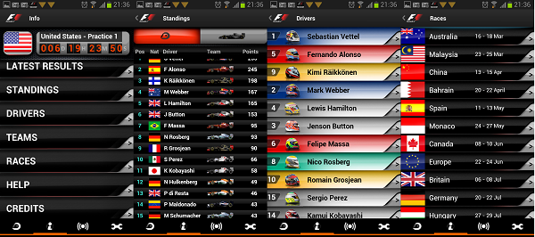 review f1 timing app
