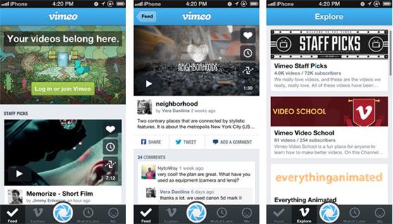 Llega la app mejorada de Vimeo para iOS