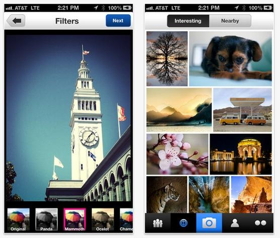 La app de Flickr para iPhone también añade filtros