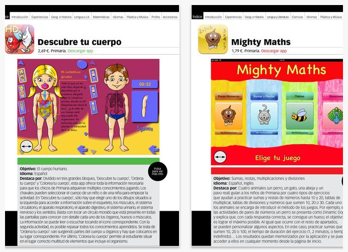 Guía de aplicaciones educativas para iPad