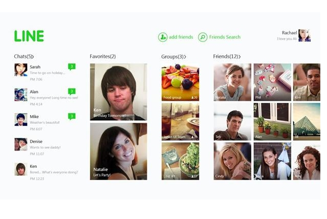 Line llega a Windows 8