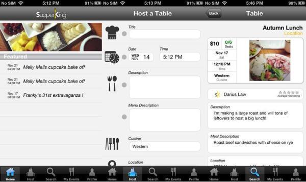 SupperKing, una aplicación que te permitirá compartir tu arte en la cocina
