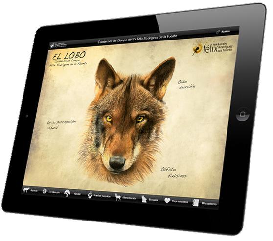 Félix Rodríguez de la Fuente y su amado lobo ibérico, en formato app