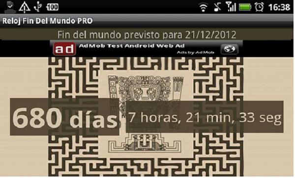 reloj fin del mundo app