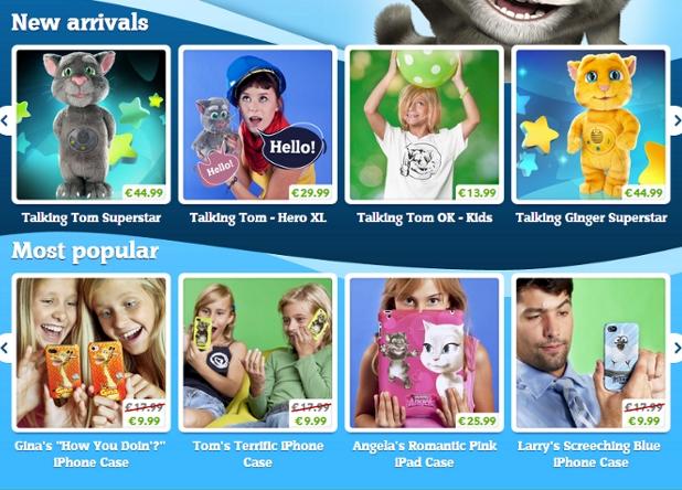 Talking Tom y Talking Ginger, de juegos para smartphones a juguetes reales