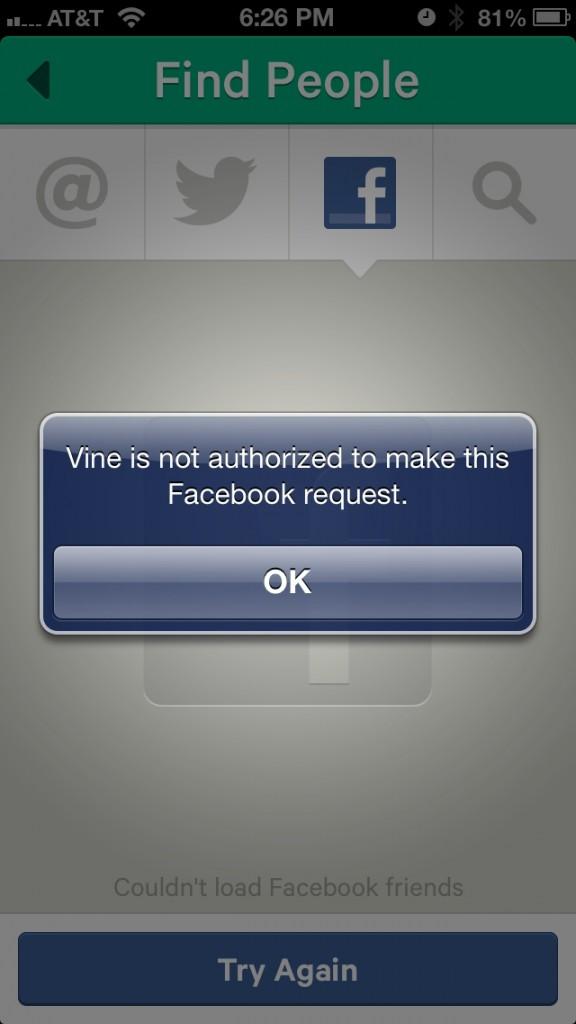Facebook bloquea Vine