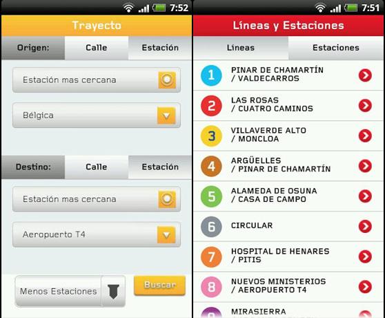 Llega la app oficial de Metro de Madrid para Android