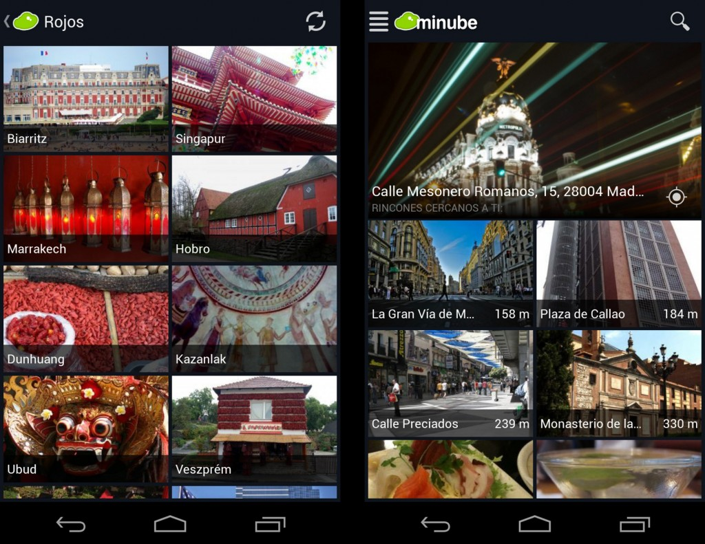 Los viajeros de minube estrenan app para Android