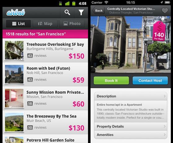 Reserva una isla privada o una casa en un árbol a través de tu smartphone con Airbnb