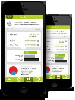 Una app para saber a quién financian y cuántos impuestos pagan las empresas estadounidenses