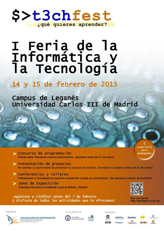 Las aplicaciones, invitadas a la Feria de la Informática y la Tecnología de la Carlos III