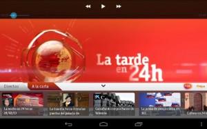 Toda la información, en directo y en multipantalla, a través de la app +24 de TVE