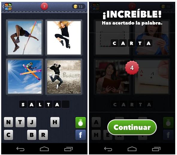 4 Fotos 1 Palabra triunfa en Android