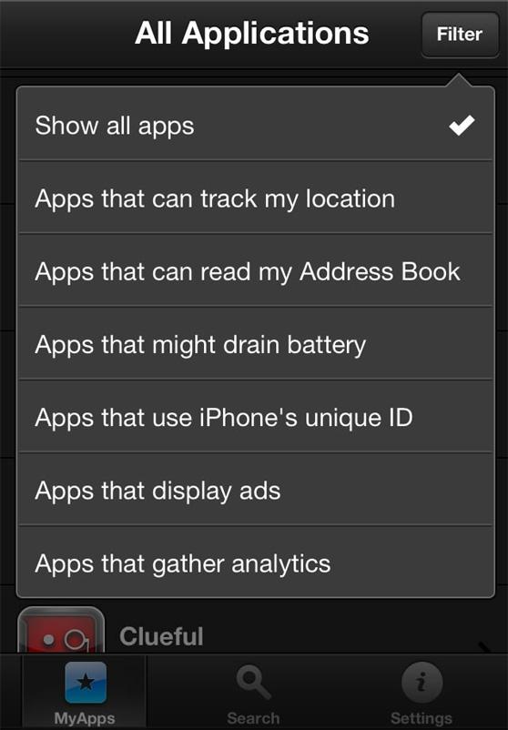 Clueful indica la peligrosidad de más de 100.000 aplicaciones