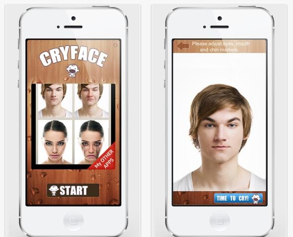 Cry Face, la app que te hará llorar