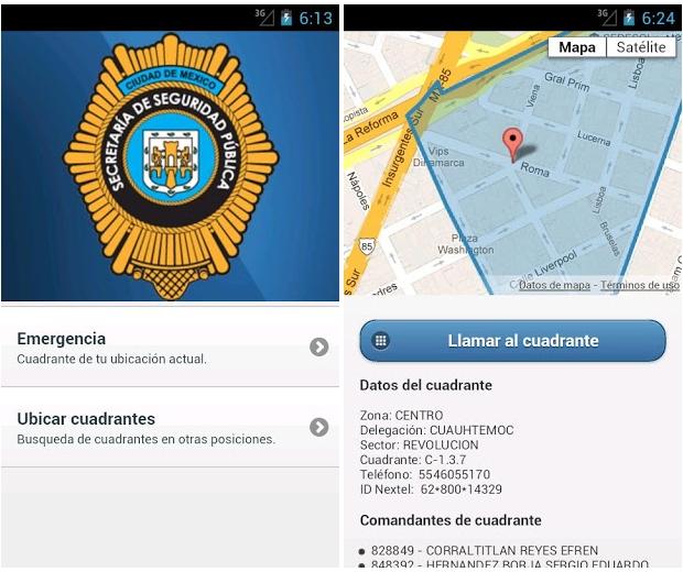 Mi Policía, la aplicación para avisar de emergencias en México D.F