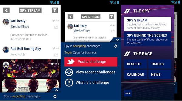 Red Bull F1 Spy app pantallazo