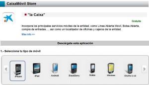 Las 70 aplicaciones de CaixaBank se descargan a un ritmo de 150 por minuto