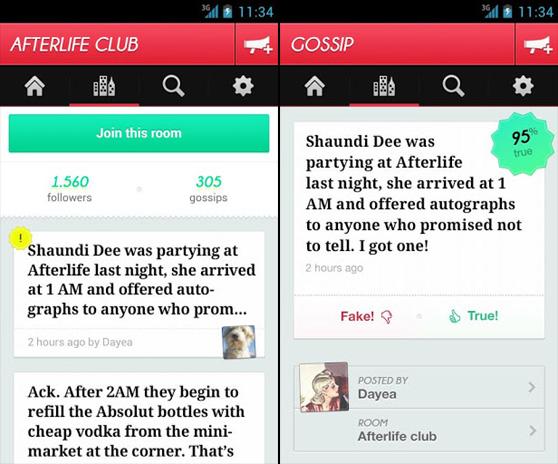 Ya es posible cotillear en Gossip a través de Android y la Web