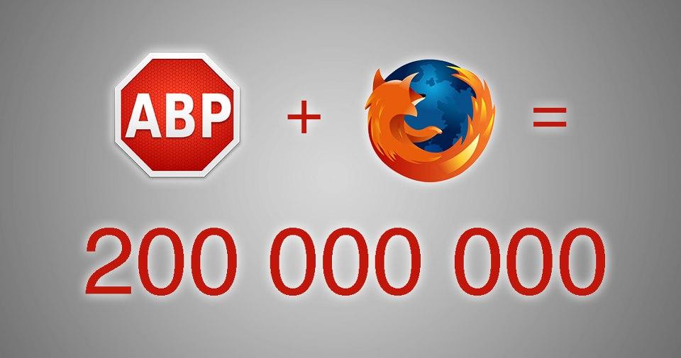 Adblock Plus ya bloquea la publicidad intrusiva en más de 200 millones de navegadores Firefox