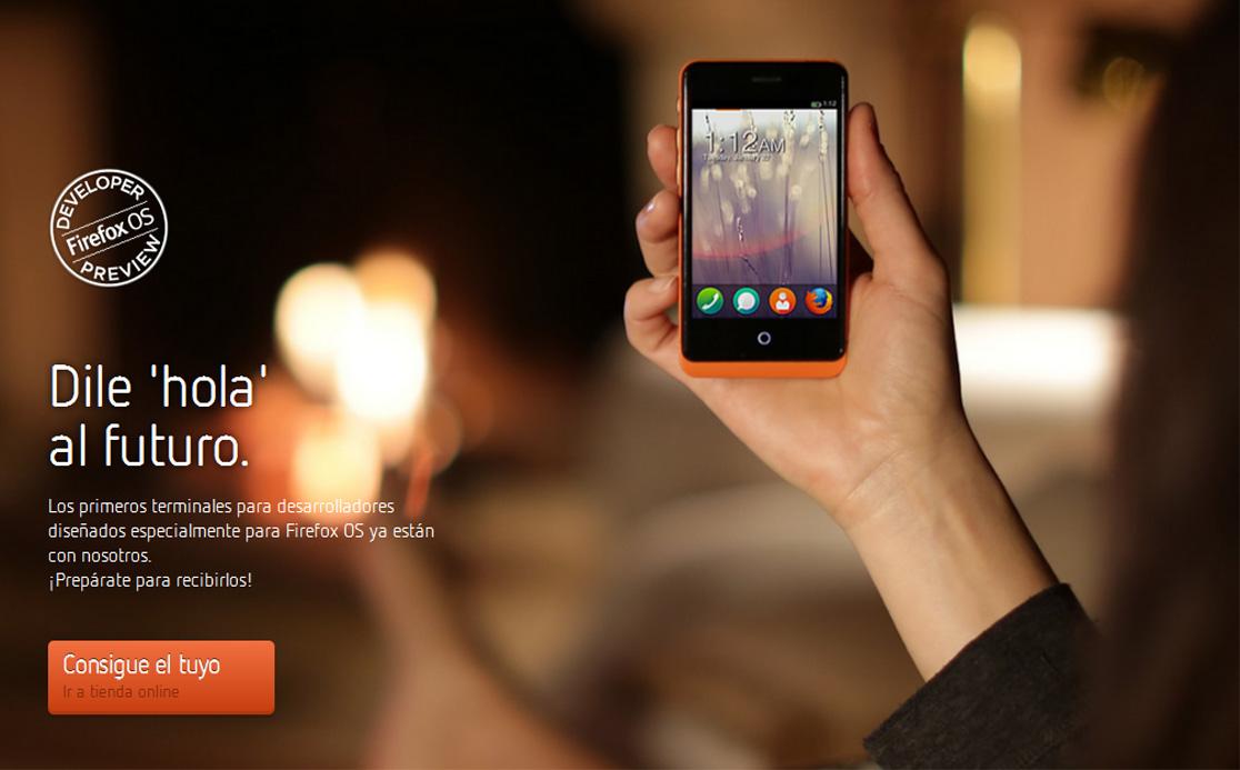 Ya están a la venta en España los dos primeros smartphones con Firefox OS