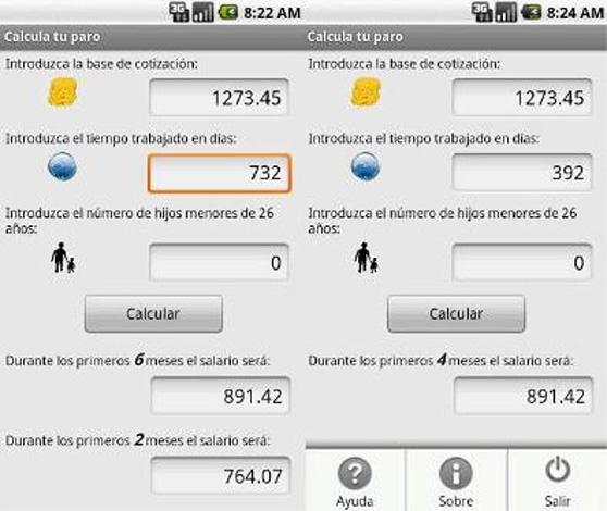 Apps para calcular la prestación por desempleo y la indemnización por despido