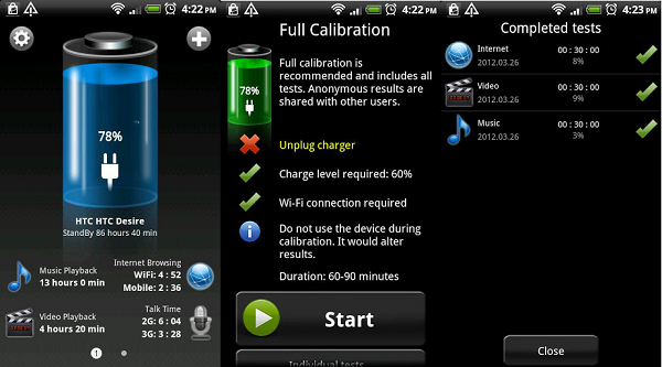 batería hd app