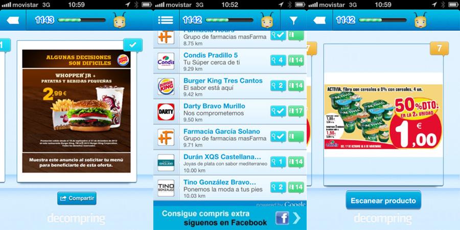 Llega a Barcelona decompring, la app que te paga por ir de compras