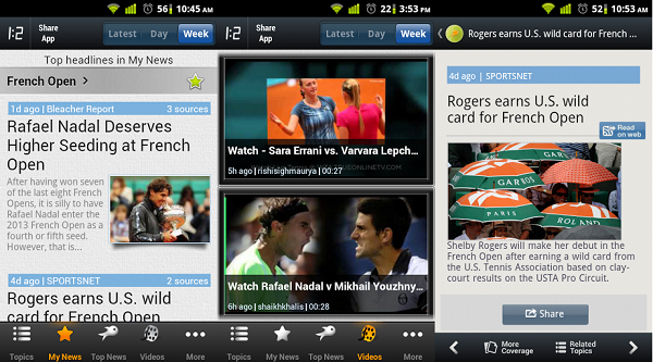 French Open News screenshots