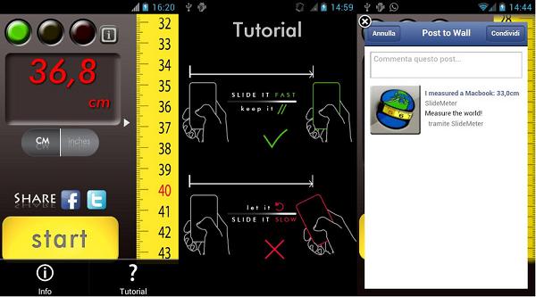 Slide Meter screenshots