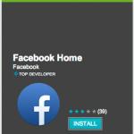 La app de Facebook Home ya se ha descargado un millón de veces en Google Play