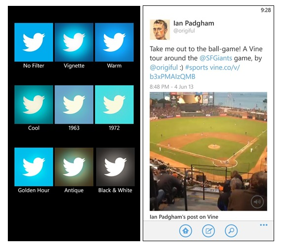 Twitter incorpora filtros a su aplicación de Windows Phone 8