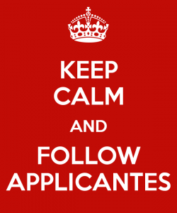 Keep Calm And Follow Applicantes