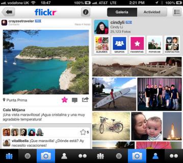 Flickr actualizacion ios