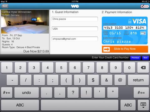wehostels iPad