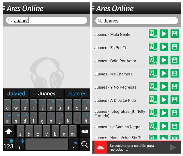 descargar musica gratis en ares online para celular