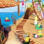 Gru, mi villano favorito se actualiza con un nuevo escenario: la playa Minion