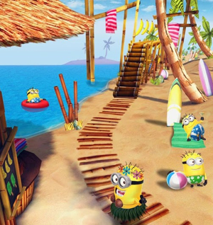 escenario playa minion