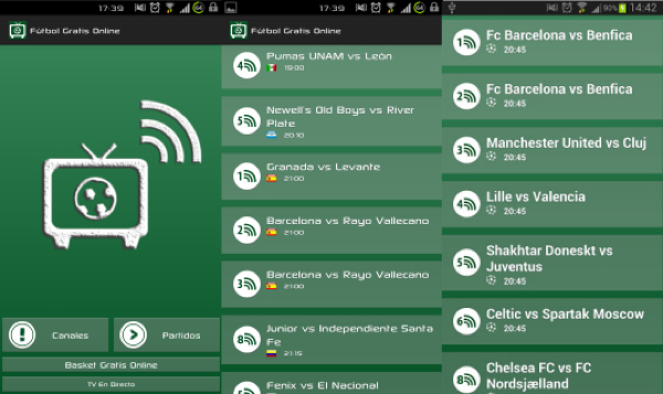 screenshots futbol gratis online