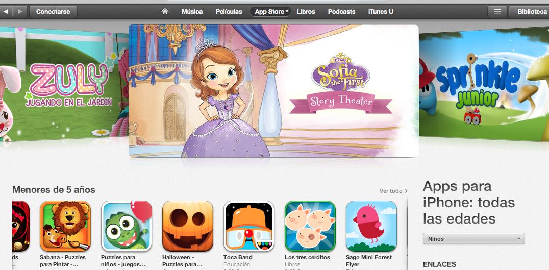 App Store Niños