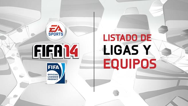 Ligas y equipos de FIFA 14
