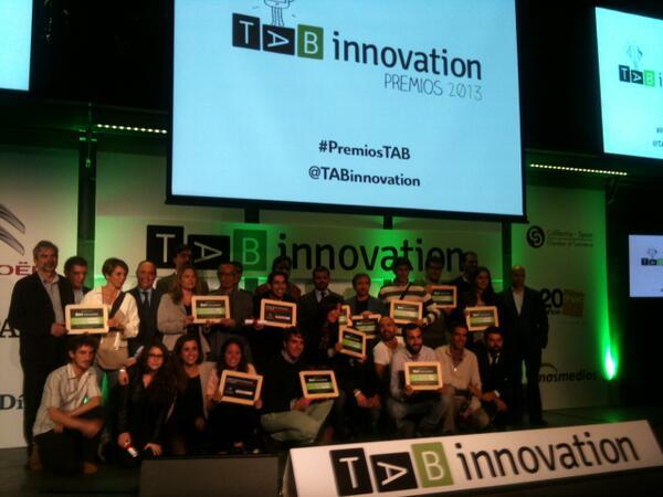 Foto oficial de los ganadores de los Premios TAB Innovation.