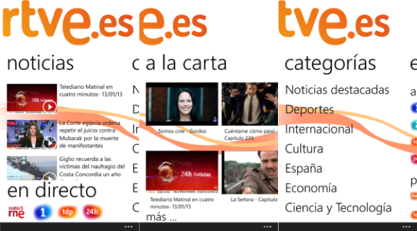 app RTVE windows phone