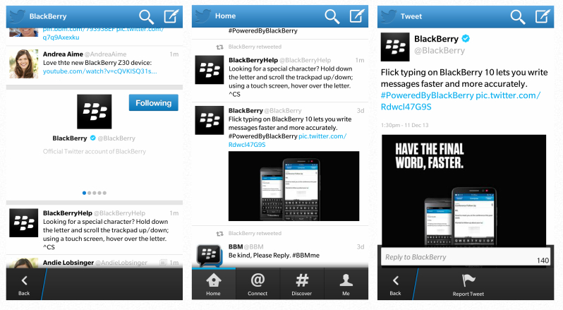 BlackBerry retira la última versión de la app de Twitter de BlackBerry World