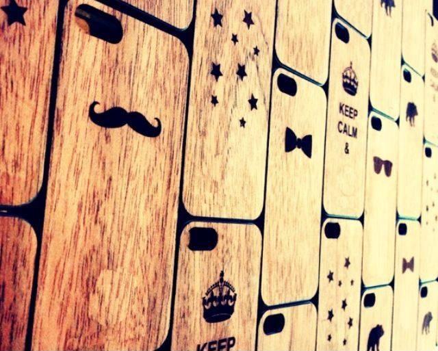 Fundas de madera iPhone