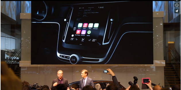 Carplay running in Volvo car