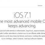 Apple lanza iOS 7.1 con mejoras en Siri y la novedad de CarPlay