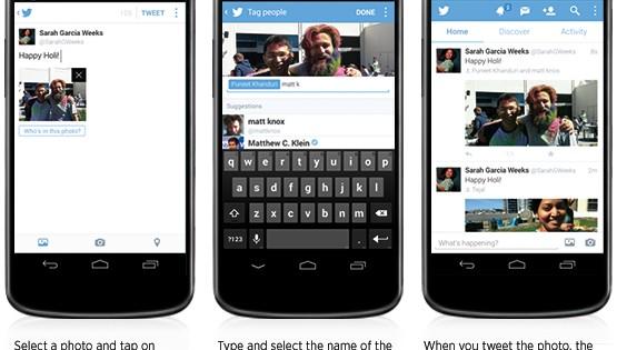 Las apps de Twitter se actualizan con etiquetado de personas en las fotos