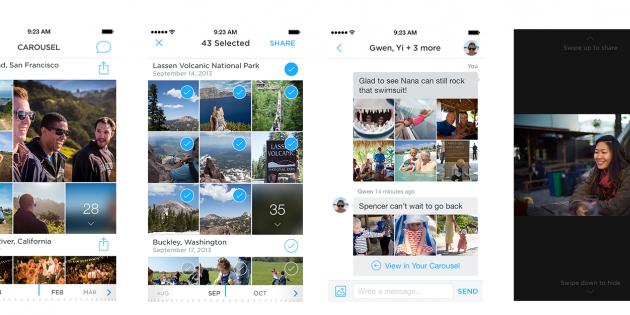 Así es Carousel, la app para organizar fotos y vídeos de Dropbox